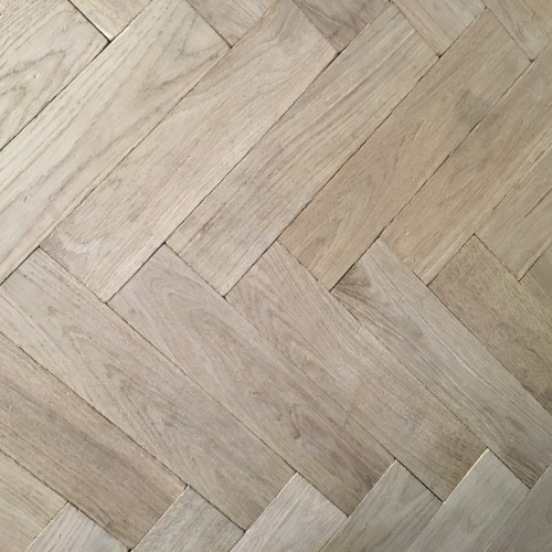 Traditional Unfinished Oak European Herringbone