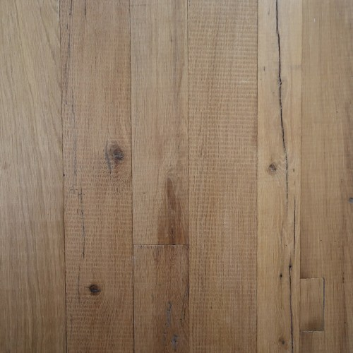 Reclaimed Engineered European Inner Beam Oak – Natural White Unsanded